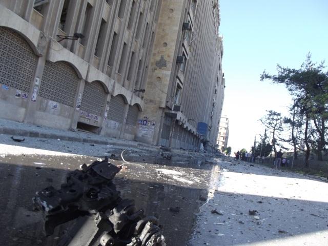 صور انفجار ضخم بحلب 30/6/2012
